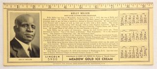 Kelly Miller, educator- author- scholar- orator [blotter with photo and brief biography of Miller]