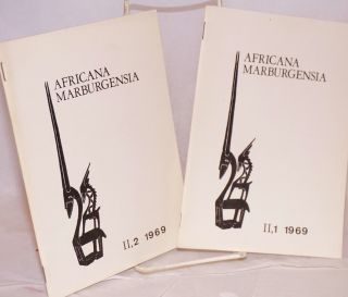 Africana Marburgensia; volume II, nos. 1 and 2