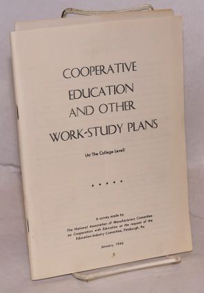 Cooperative education and other work-study plans (at the college level