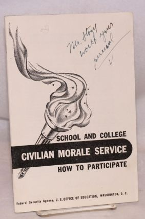 School and college civilian morale service how to participate