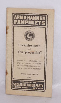 Unemployment and 'overproduction'. Arnold Petersen