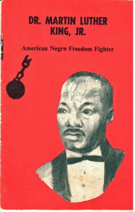 Dr. Martin Luther King, Jr., American Negro freedom fighter, illustrated by Robert Swan