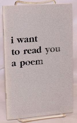 I want to read you a poem. Cedar Koons.
