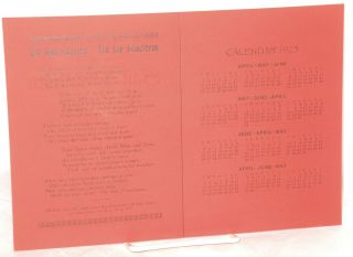 """The San Francisco calendar (new style). Dedicated to the writers of """"Fascinating San Francisco"""""""