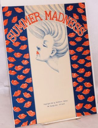 Summer Madness: sheet music and lyrics. Salvatore Billeci
