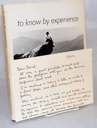 To know by experience; Outward Bound, North Carolina