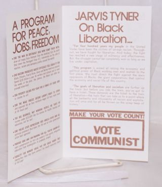 Vote for a fighter against war and racism, Jarvis Tyner, Communist candidate for Vice-President