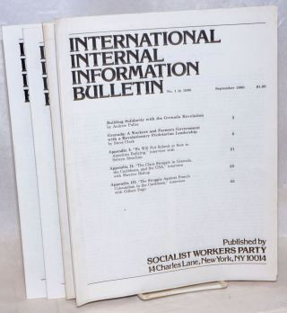 International internal information bulletin, no. 1 in September, 1980 to no. 4, December, 1980