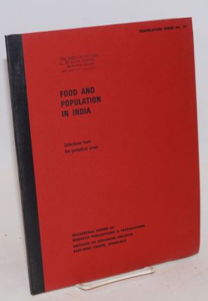 Food and population in India. Selections from the periodical press