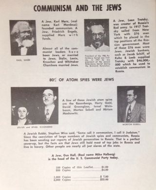 American Communist Party run by Jews, nine of the Hollywood Ten communists were Jews