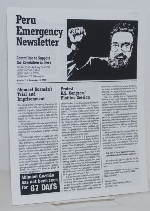 Peru Emergency Newsletter Number 3, December 18, 1992