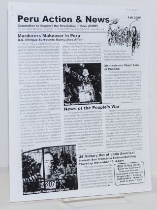 Peru Action & News. Fall 2000