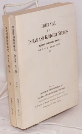Journal of Indian and Buddhist studies / Indogaku bukkyogaku kenkyu. Vol. V No. 1 (January 1957) and 2 (March 1957)