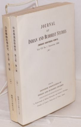 Journal of Indian and Buddhist studies / Indogaku bukkyogaku kenkyu 印度學佛教學研究...