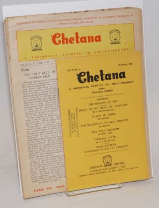 Chetana: a periodical devoted to enlightenment [7 various issues]. Sudhakar Dikshit.