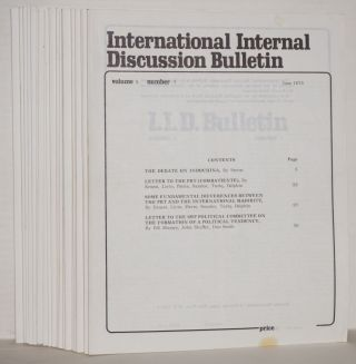 International internal discussion bulletin, vol. 10, no. 1, January, 1973 to no. 26, December, 1973