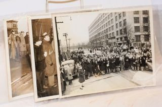 [Four photographs of electrical workers on strike in New Jersey]