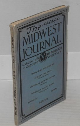 Midwest journal; a magazine of research and creative writing, volume VI, number 3, fall 1954