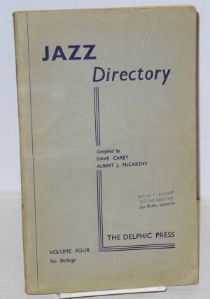 The directory; of recorded jazz and swing music (including gospel and blues records); volume four...