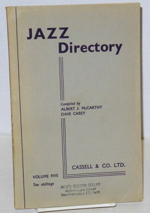 The directory; of recorded jazz and swing music (including gospel and blues records); volume five...