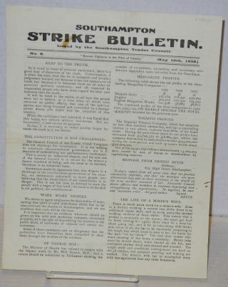 Southampton Strike Bulletin. No 6 (May 10th, 1926