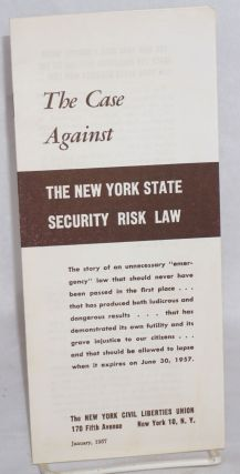 The case against the New York State Security Risk Law