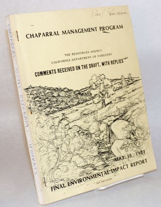 Chaparral management program: final environmental impact report. [Two volumes]