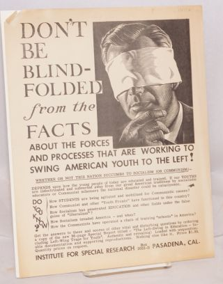 Don't be blindfolded from the facts about the forces and processes that are working to swing...