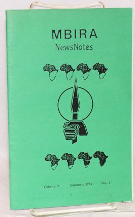 MBIRA news notes; news about Africa: a cultural newsletter, network directory, volume v, no. 2,...