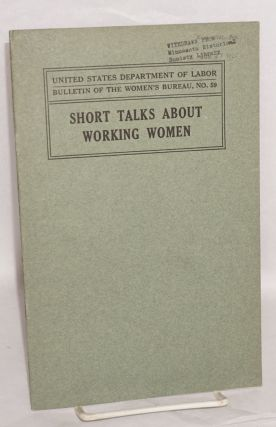 Short talks about working women. Mary Anderson, ed