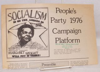 People's Party 1976 campaign platform