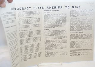 Technocracy plays America to win! [centerfold title]