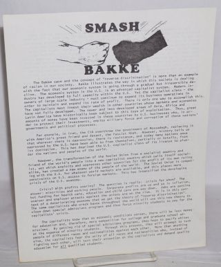 Smash Bakke [handbill]. Fruitvale Law Collective