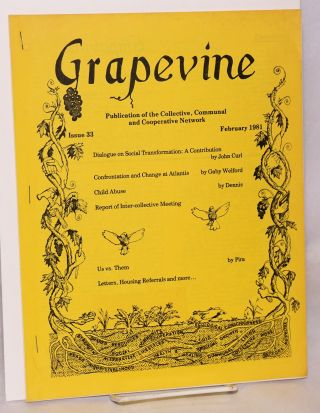 The Grapevine: publication of the Collective, Communal and Cooperative Network. Issue 33...