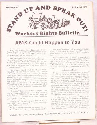 Stand up and speak out! Workers rights bulletin. No. 1 (March 1979). Workers Committee to Improve...