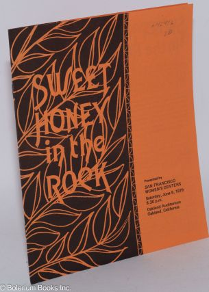 Sweet Honey in the Rock; presented by San Francisco Women's Centers, Saturday, June 9, 1979, 8:30...