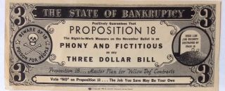 The State of Bankruptcy positively guarantees that Proposition 18, the right-to-work measure on...