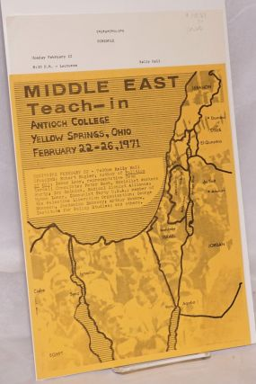 Middle East Teach-In. Antioch College... February 22-26, 1971 [mini-poster and program
