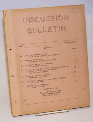 Discussion bulletin, A-23, October, 1954. Socialist Workers Party