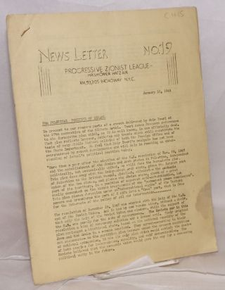 News Letter: Nos. 19 and 21 (Jan. 10, March 1, 1949)