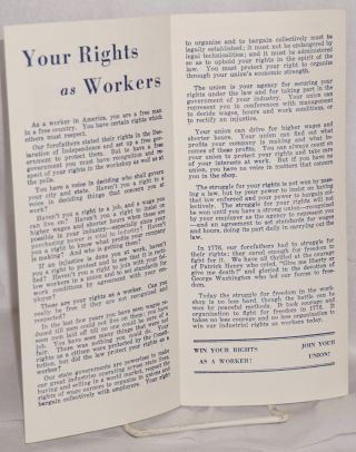 Your rights as workers