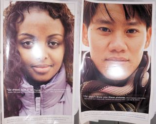 Two public relations posters on the theme of Israeli aid to refugees from Ethiopia and Vietnam