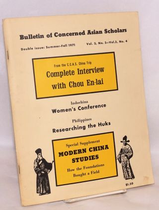 Bulletin of concerned Asian scholars: vol. 3, nos.3 & 4 Summer-Fall 1971