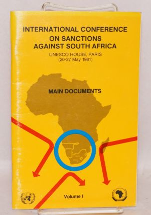 International Conference on Sanctions Against South Africa; UNESCO House, Paris (20 - 27 May,...