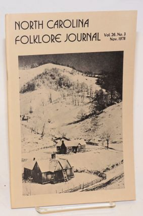 North Carolina folklore journal; volume 26, no. 3, Nov. 1978