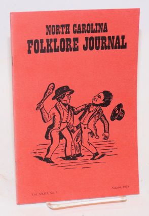 North Carolina folklore journal; volume 23, no. 3 August 1975