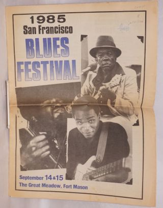 1985 San Francisco blues festival; September 14 & 15, the great meadow, Fort Mason
