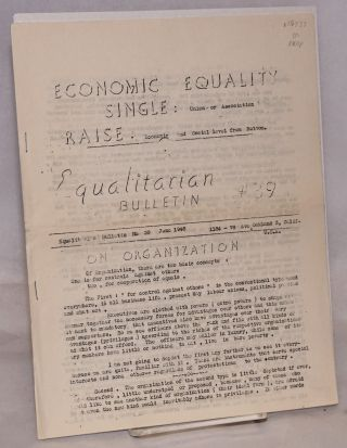 Equalitarian bulletin no. 39. June 1948