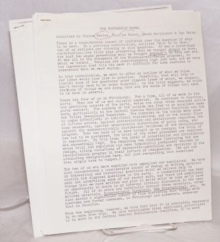 [Group of 18 documents from the 1983-84 internal strife that decimated the SWP and gave rise to new Trotskyist formations, including Socialist Action]