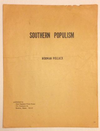 Southern Populism. Norman Pollack